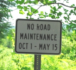 No Road Maintenance