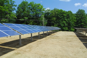 Solar Filed at the former Townshend, VT municipal landfill.